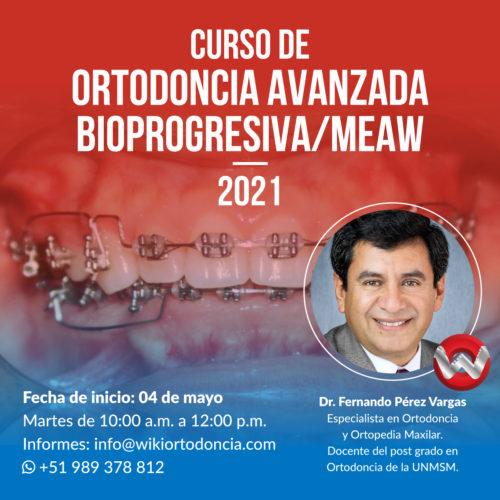 Curso de Ortodoncia Avanzada Bioprogresiva/MEAW 2021